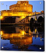 Castel Sant'angelo And The Tiber River Acrylic Print