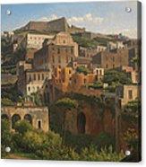 Castel Sant'elmo From Chiaia. Naples Acrylic Print
