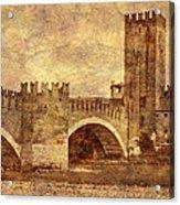 Castel Vecchio And Bridge In Verona Italy Acrylic Print