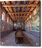 Ready For The Red Wine Wedding Castelle Di Amorosa Acrylic Print