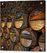 Castello Di Amorosa Of California Wine Barrels Acrylic Print