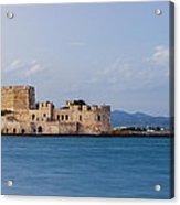 Castle Bourtzi And Buoy Acrylic Print