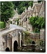 Castle Combe Cotswolds Village Acrylic Print