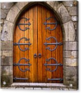 Castle Door Acrylic Print by Carlos Caetano