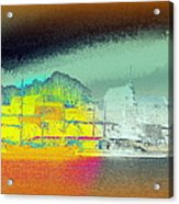 When You Dream Of A Sailship And An Old Castle  Acrylic Print