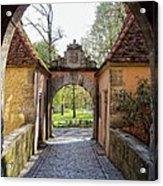 Castle Gate Rothenburg Ob Der Tauber Acrylic Print