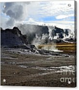 Castle Geyser In Yellowstone National Park Acrylic Print