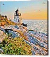 Castle Hill Lighthouse 1 Newport Acrylic Print