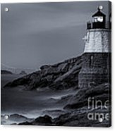 Castle Hill Lighthouse Bw Acrylic Print
