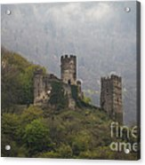 Castle In The Mountains. Acrylic Print