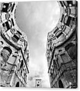 Castle Keyhole In Black And White Acrylic Print