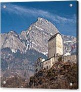 Castle On A Hill In Switzerland Acrylic Print