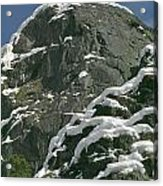 104619-castle Rock In Winter Dress Acrylic Print