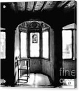 Castle Room With Chair Bw Acrylic Print
