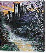 Castle Ruins At Dawn Acrylic Print