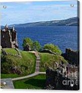 Castle Ruins On Loch Ness Acrylic Print