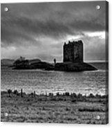 Castle Stalker Bw Acrylic Print