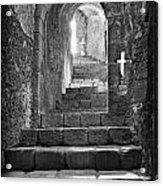 Castle Subterranean Staircase Acrylic Print