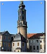Castle Tower And Castle Weimar Acrylic Print