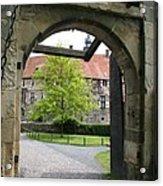 Castle Vischering Archway Acrylic Print