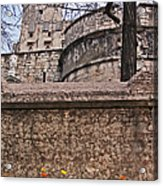 Castle With Poppies Acrylic Print