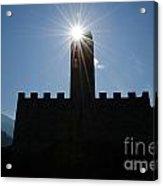 Castle With Sun Acrylic Print
