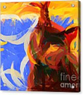 Cat Abstract Art Acrylic Print by Pixel Chimp