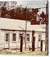 Cat Cabins And Gas Station Acrylic Print