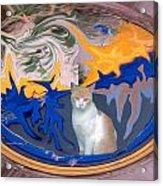Cat In Doorway Fantasy Acrylic Print