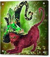 Cat In Fancy Witch Hat 2 Acrylic Print