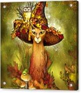 Cat In Fancy Witch Hat 3 Acrylic Print