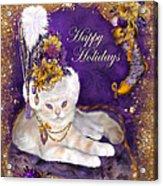 Cat In Victorian Santa Hat Acrylic Print