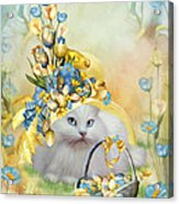 Cat In Yellow Easter Hat Acrylic Print