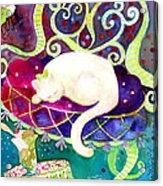 Cat N Ice Cream Acrylic Print