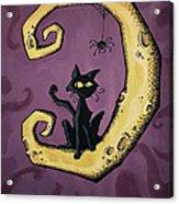 Cat On The Moon Acrylic Print