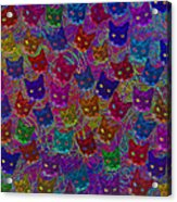 Cat Party Acrylic Print