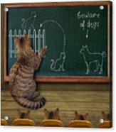 Cat Teacher And His Pupils... :) Acrylic Print