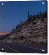 Catalina Highway Twilight Acrylic Print