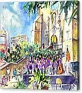 Catalonia Day In Llansa Acrylic Print