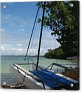 Catamaran On The Beach Acrylic Print