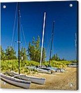 Catamaran Sailboats On The Beach At Muskegon No. 601 Acrylic Print