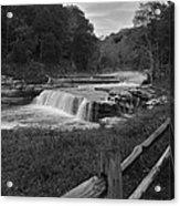 Cataract Falls Indiana Black N White Acrylic Print