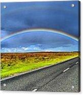 Catch The Rainbow Acrylic Print by Dave Woodbridge