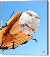 Catching A Baseball Acrylic Print by Joe Belanger