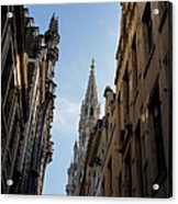 Catching A Glimpse Of Grand Place Brussels Belgium Acrylic Print