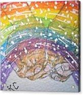 Catching A Rainbbow Acrylic Print