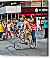 Catching A Ride Acrylic Print