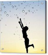 Catching Bubbles Acrylic Print