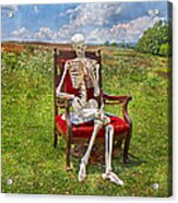 Catching Up On Human Anatomy And Physiology Acrylic Print by Betsy Knapp