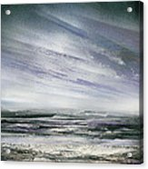 Catclough Reservoir Winter Rythms And Textures Acrylic Print